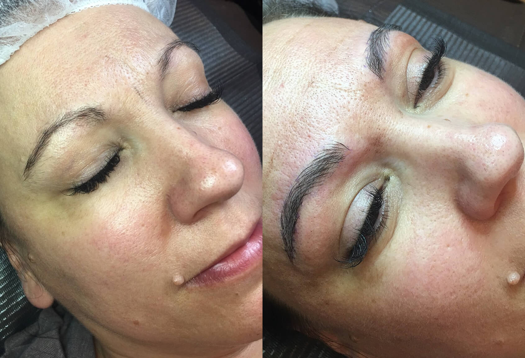 microblading thin eyebrows thick